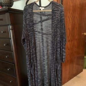 LulaRoe Sarah Duster. Navy Speckled. Size XL.